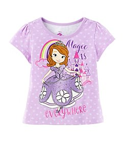Disney® Girls' 2T-6X Princess Sofia Magic Printed Tee