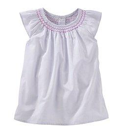 OshKosh B'Gosh® Girls' 2T-4T Striped Smocked Woven Top
