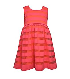 Bonnie Jean® Girls' 2T-6X Striped Scuba Mesh Dress