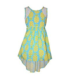 Bonnie Jean® Girls' 2T-6X Pineapple Printed High-Low Dress