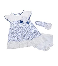 Wendy Bellissimo® Baby Girls' 3-Piece Printed Poplin Dress Set