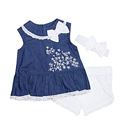 Wendy Bellissimo® Baby Girls' Eyelet Tank and Shorts Set