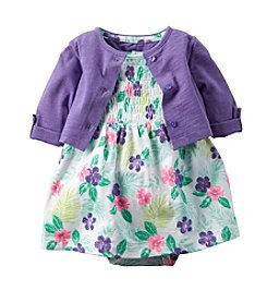 Carter's® Baby Girls' Floral Printed Dress And Cardigan Set