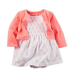 Carter's® Baby Girls' Geo Printed Dress And Cardigan Set