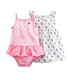 Carter's® Baby Girls' Striped Romper And Dress Set
