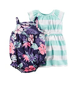 Carter's® Baby Girls' Tropical Printed Romper And Dress Set