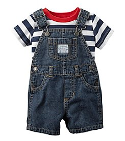 Carter's® Baby Boys Striped Tee And Shortalls Set