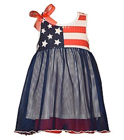 Bonnie Jean® Baby Girls' Star Spangled Flag Dress And Shorts Set