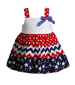 Sweet Heart Rose® Baby Girls' Americana Printed Tiered Sundress