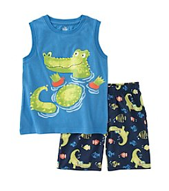 Kids Headquarters® Baby Boys' Alligator Printed Tank and Shorts Set