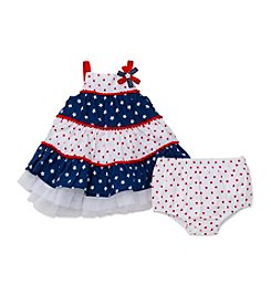 Little Me® Baby Girls' Patriotic Tiered Dress And Panty Set