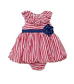 Little Me® Baby Girls' Striped Sunsuit With Flowers
