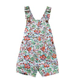 OshKosh B'Gosh® Baby Girls' 12-24 Month Tropical Printed Shortalls