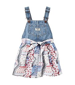 OshKosh B'Gosh® Baby Girls' Denim Tie Front Jumper