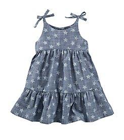 OshKosh B'Gosh® Baby Girls' Chambray Star Printed Woven Dress