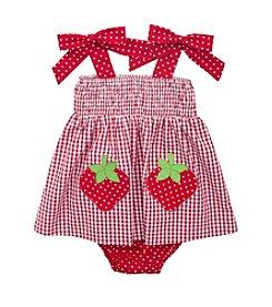 Rare Editions® Baby Girls' Strawberry Applique Seersucker Dress