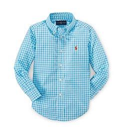 Ralph Lauren Childrenswear Boys' 2T-7 Long Sleeve Plaid Button Down Shirt