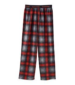 Calvin Klein Boys' 5-16 Plaid Pajama Pants