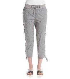 Rafaella® Solid Poplin Cargo Capri Pants
