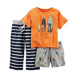 Carter's® Boys 3-Piece Dog Surfer Sleepwear Set