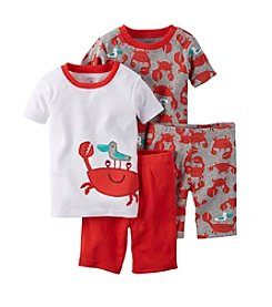 Carter's® Boys' 4-Piece Crab Sleepwear Set