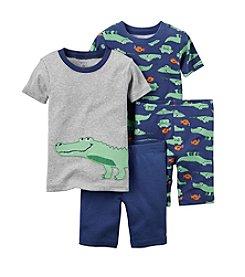 Carter's® Boys' 12M-12 4-Piece Alligator Sleepwear Set