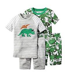 Carter's® Boys' 12M-12 4-Piece Dino Sleepwear Set