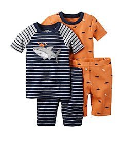 Carter's® Boys' 12M-12 4-Piece Shark Sleepwear Set