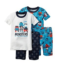 Carter's® Boys' 12M-12 4-Piece Monster Sleepwear Set