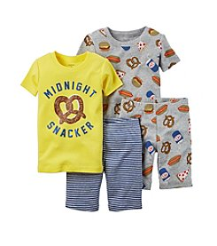 Carter's® Boys' 12M-12 4-Piece Midnight Snacker Sleepwear Set