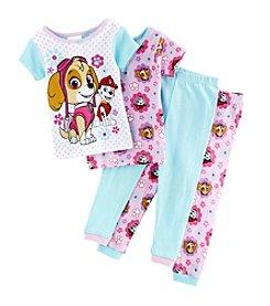 Nickelodeon® Girls' 2T-4T 4-Piece Paw Patrol Pajama Set