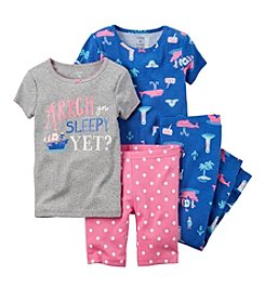 Carter's® Girls' 4-Piece Pirate Printed Pajama Set