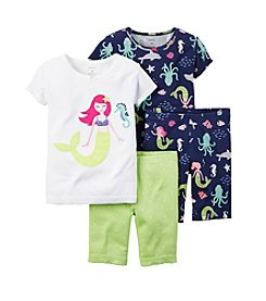 Carter's® Girls' 12M-12 4-Piece Mermaid Printed Pajama Set