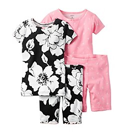 Carter's® Girls' 4-Piece Floral Printed Pajama Set