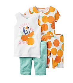 Carter's® Girls' 4-pc. Tucan Printed Pajama Set