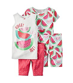 Carter's® Girls' 4-Piece Sweet Watermelon Printed Pajama Set