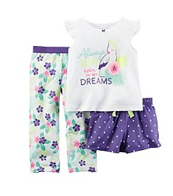 Carter's® Girls' 3-Piece Always Happy Printed Pajama Set
