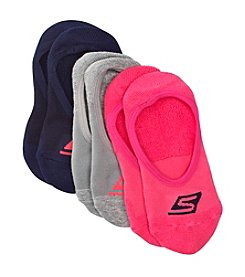 Skechers® 3-Pack No Show Terry Socks