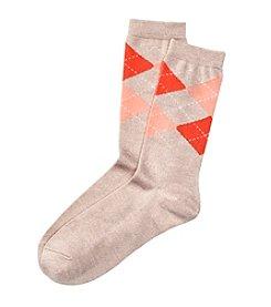 Relativity® Argyle Crew Socks