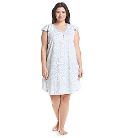 KN Karen Neuburger Plus Size Cap Sleeve Nightgown