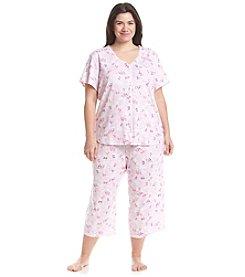 KN Karen Neuburger Plus Size Printed Capri Pajama Set
