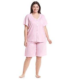 KN Karen Neuburger Plus Size Printed Bermuda Pajama Set