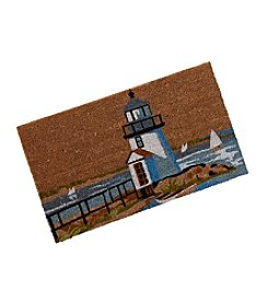 LivingQuarters Lake Collection Lighthouse Coir Mat