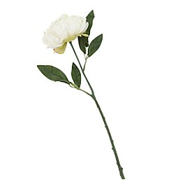 LivingQuarters Botanical Collection White Peony Stem