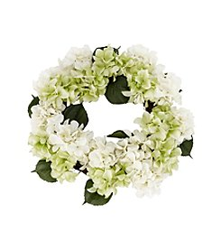 LivingQuarters Botanical Collection Hydrangea Wreath