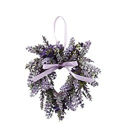 LivingQuarters Botanical Collection Lavender Heart Wreath