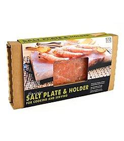 Charcoal Companion® Himalayan Salt Plate And Holder Set