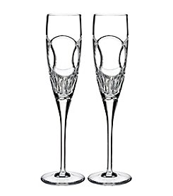 Waterford® Love Wedding Vows Set Of Two Champagne Flutes