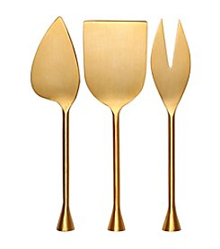 Thirstystone® Old Hollywood Goldtone Cheese Tools Set
