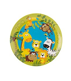 LivingQuarters Zoo Animals Plate